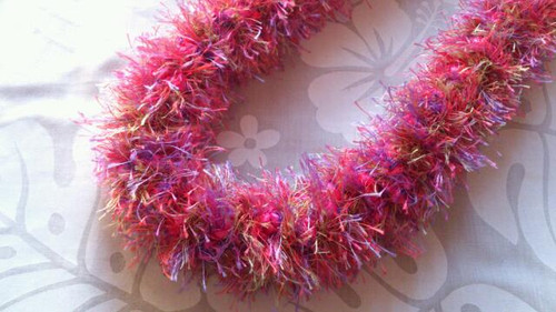 Crochet love pink